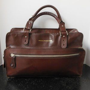 Diesel Black Gold Brown Leather Bag